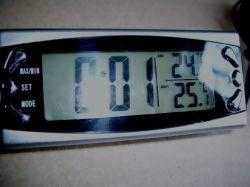 hőmérő külső-belső+óra digitális kijelzővel