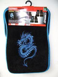 """autószőnyeg """"dragon"""" mintás kék 4 db-os"""